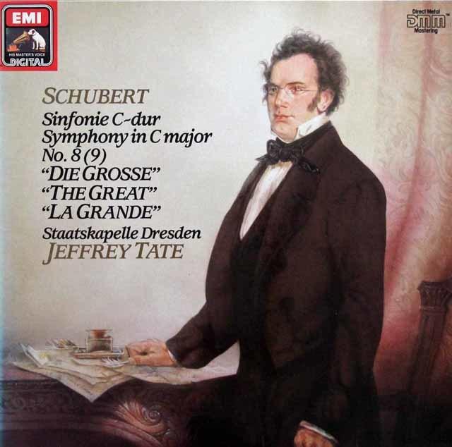 テイトのシューベルト/交響曲第8(9)番「グレート」 独EMI 3144 LP レコード