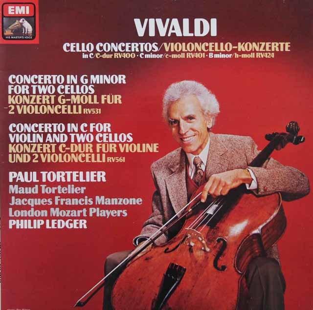 【オリジナル盤】 トルトゥリエのヴィヴァルディ/チェロ協奏曲集 英EMI 3144 LP レコード