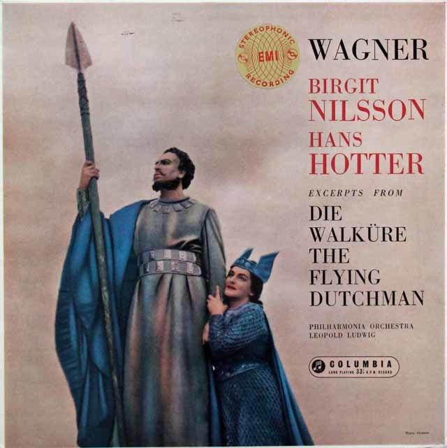 【オリジナル盤】 ニルソン&ホッターのワーグナー/「ワルキューレ」&「さまよえるオランダ人」からの二重唱集 英Columbia 3144 LP レコード
