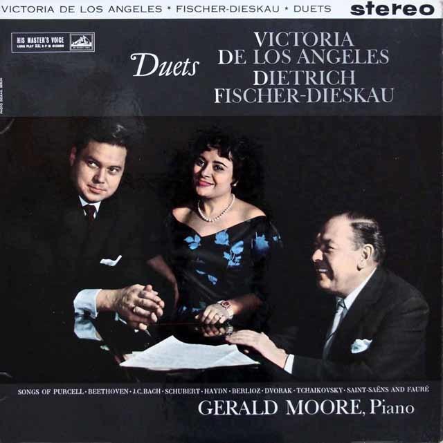 【オリジナル盤】アンヘレス、ディースカウ&ムーアの二重唱集(パーセル、ベートーヴェン、バッハ、シューベルトほか) 英EMI 3144 LP レコード