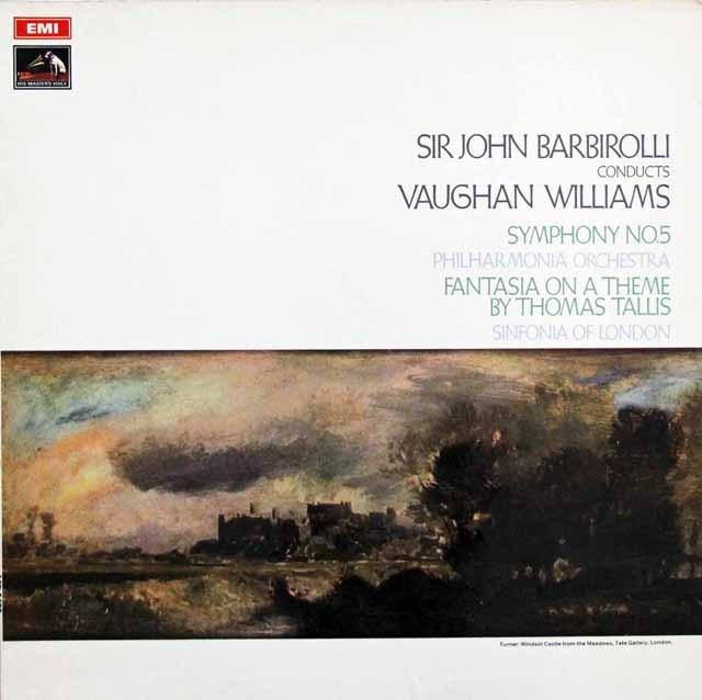 バルビローリのV.ウィリアムズ/交響曲第5番ほか 英EMI 3144 LP レコード