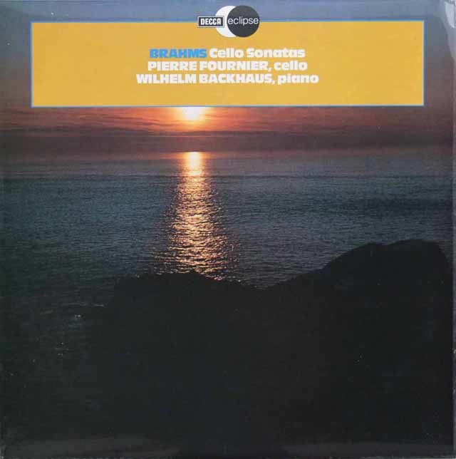 フルニエ&バックハウスのブラームス/チェロソナタ第1&2番 英DECCA 3145 LP レコード