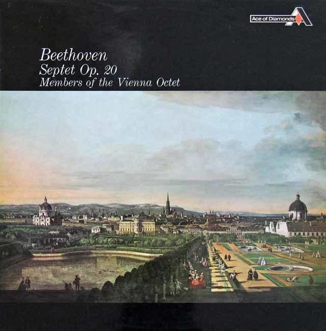 ウィーン・オクテットのベートーヴェン/七重奏曲 英DECCA (Ace of Diamonds) 3145 LP レコード