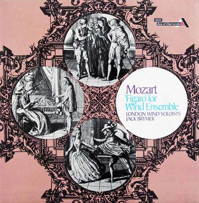 ブライマー&ロンドン管楽ソロイスツのモーツァルト/管楽合奏による「フィガロ」 英DECCA (Ace of Diamonds) 3145 LP レコード