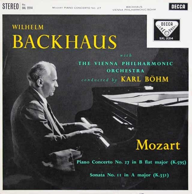 【オリジナル盤】バックハウス&ベームのモーツァルト/ピアノ協奏曲第27番ほか 英DECCA 3145 LP レコード