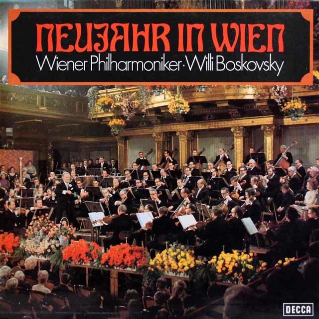 ボスコフスキー&ウィーン・フィルの「ウィーンのニュー・イヤー」  独DECCA 3145 LP レコード