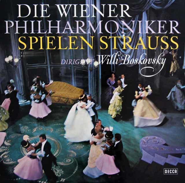 ボスコフスキー&ウィーン・フィルのJ.シュトラウス2世/「ウィーンのカリオストロ」序曲ほか  独DECCA 3145 LP レコード