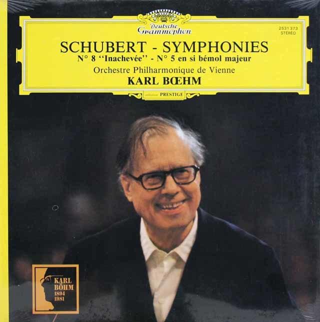 【未開封】ベームのシューベルト/交響曲第5&8番「未完成」 仏DGG 3145 LP レコード