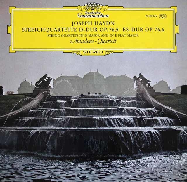 アマデウス四重奏団のハイドン/弦楽四重奏曲第79&80番 独DGG 3145 LP レコード