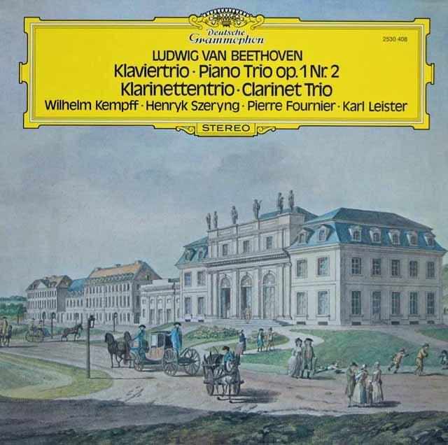 ケンプ、シェリング&フルニエのベートーヴェン/ピアノ三重奏曲第2番ほか 独DGG 3145 LP レコード