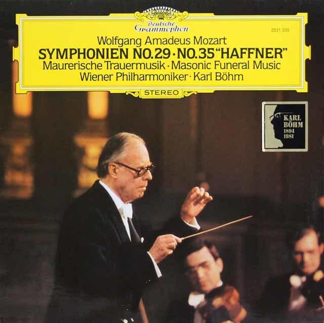 ベームのモーツァルト/交響曲第29&35番「ハフナー」ほか 独DGG 3145 LP レコード