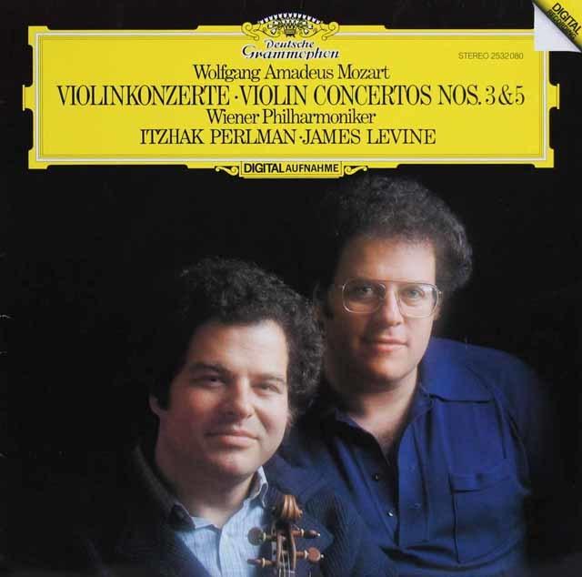 パールマン&レヴァインのモーツァルト/ヴァイオリン協奏曲第3&5番 独DGG 3145 LP レコード