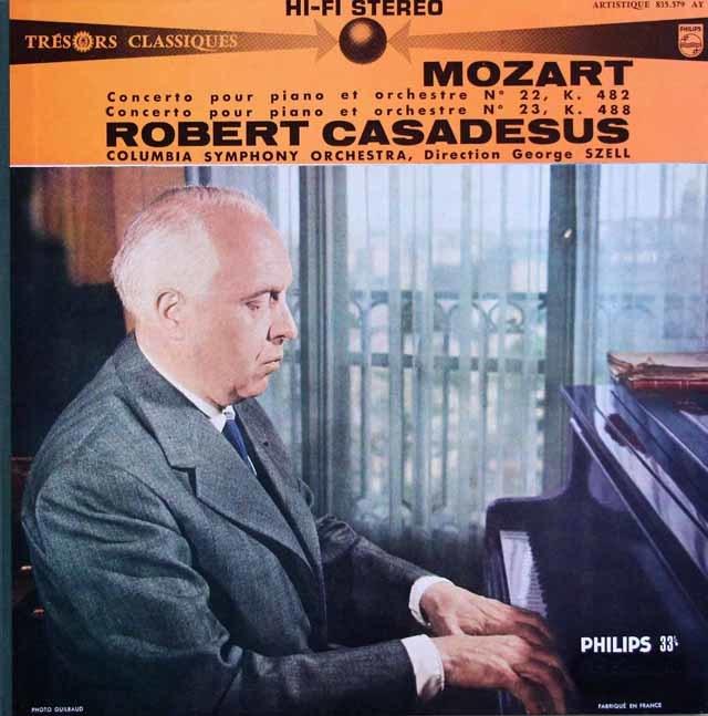 【仏最初期盤】カサドシュ&セルのモーツァルト/ピアノ協奏曲第22&23番 仏PHILIPS 3145 LP レコード