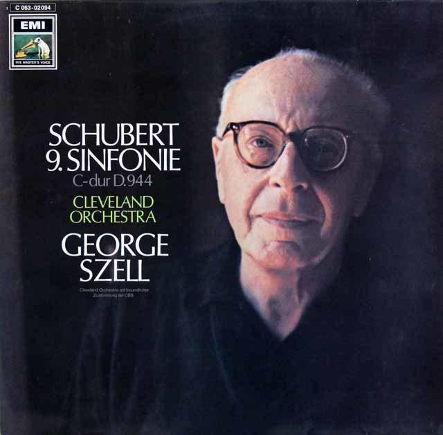 セルのシューベルト/交響曲第9番「ザ・グレイト」 独EMI   3145 LP レコード