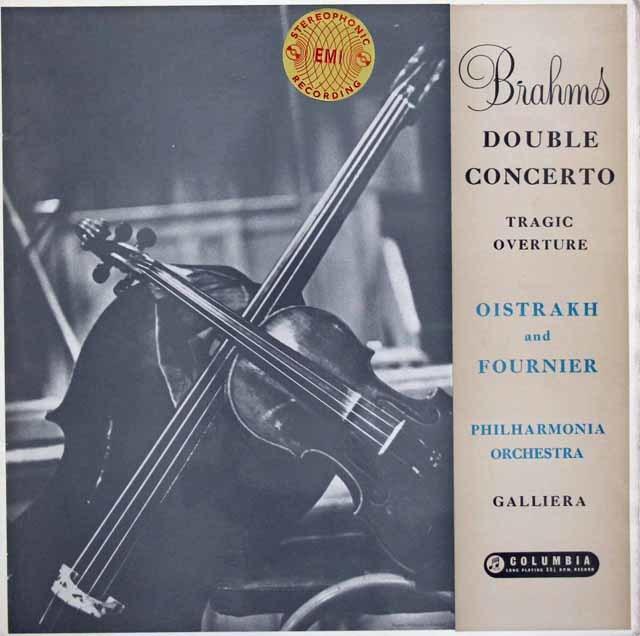 オイストラフ&フルニエのブラームス/ヴァイオリンとチェロのための二重協奏曲 英Columbia 3145 LP レコード