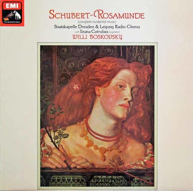 【オリジナル盤】ボスコフスキーのシューベルト/劇音楽「ロザムンデ」 英EMI 3145 LP レコード