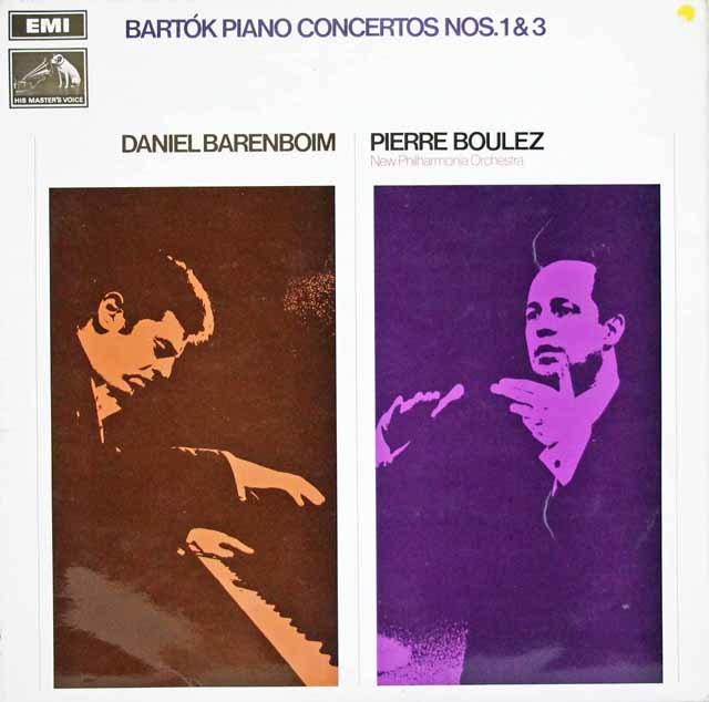 【オリジナル盤】バレンボイム&ブーレーズのバルトーク/ピアノ協奏曲第1&3番 英EMI 3145 LP レコード