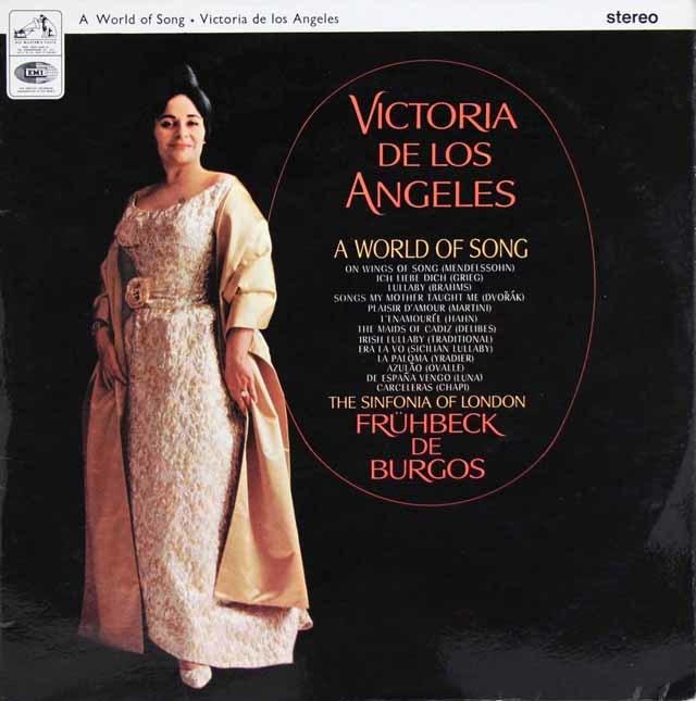 【オリジナル盤】ロス・アンヘレスの名歌曲の世界 英EMI 3145 LP レコード