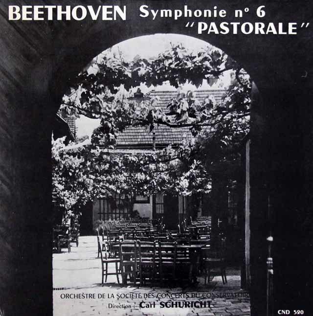 シューリヒトのベートーヴェン/交響曲第6番「田園」 仏Club National du Disque 3145 LP レコード
