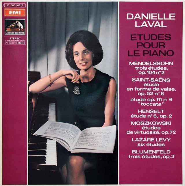 ラヴァルのピアノの為の練習曲集(メンデルスゾーンほか) 仏EMI(VSM) 3145 LP レコード