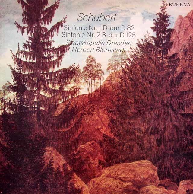 ブロムシュテットのシューベルト/交響曲第1&2番 独ETERNA 3145 LP レコード