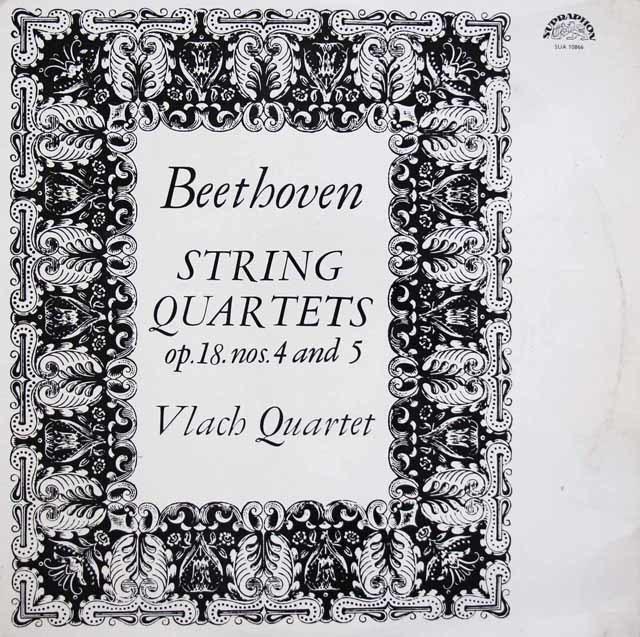 ヴラフ四重奏団のベートーヴェン/弦楽四重奏曲第4&5番 チェコSUPRAPHON 3145 LP レコード