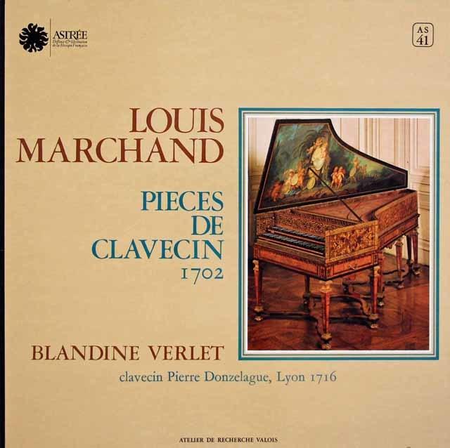 ヴェルレのマルシャン/クラヴサン曲集 仏ASTREE 3145 LP レコード