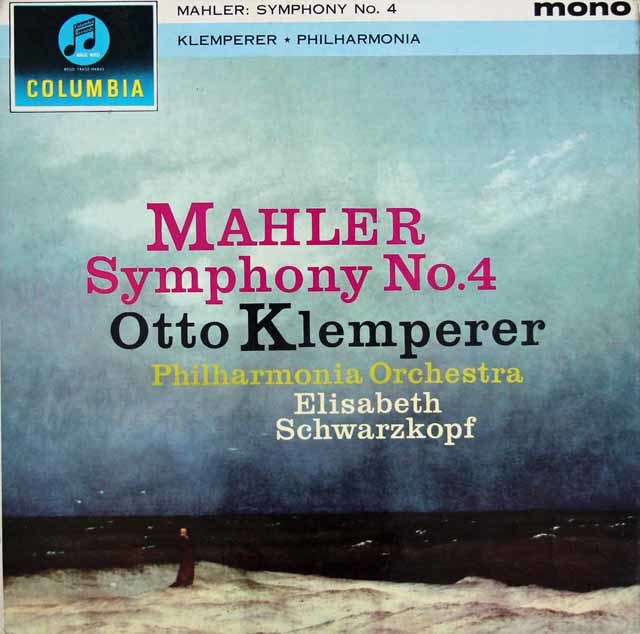 シュヴァルツコップ&クレンペラーのマーラー/交響曲第4番 英Columbia 3145 LP レコード