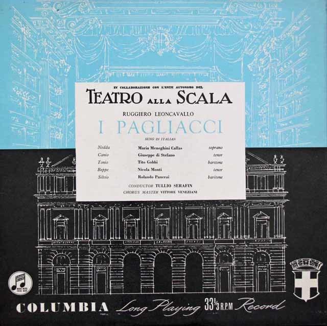カラスのレオンカヴァッロ/「道化師」全曲 英Columbia 3145 LP レコード