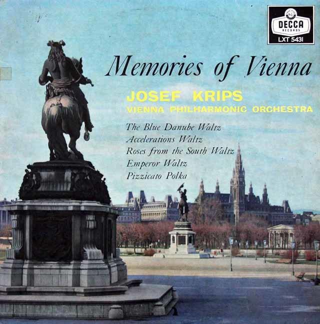 クリップスのシュトラウス2世/「美しく青きドナウ」ほか 英DECCA 3145 LP レコード