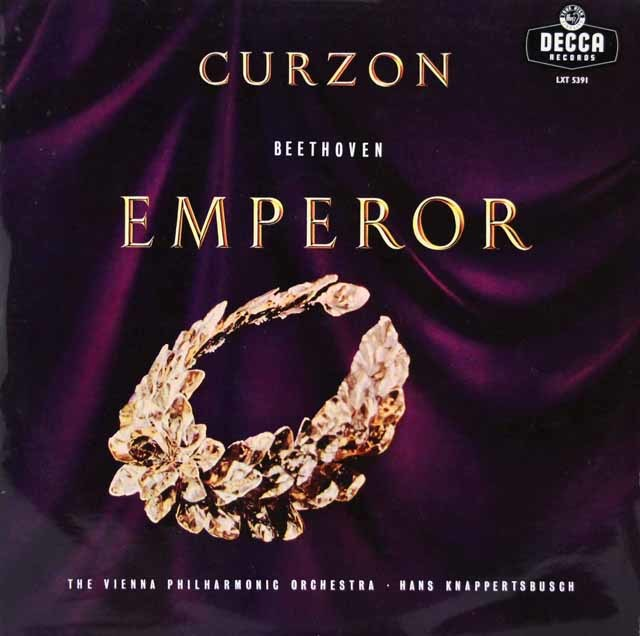 カーゾン & クナッパーツブッシュのベートーヴェン/ピアノ協奏曲第5番「皇帝」 英DECCA 3145 LP レコード
