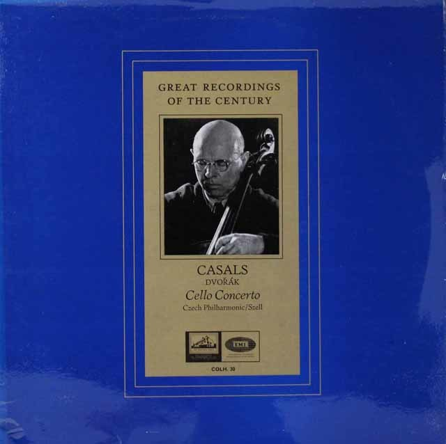カザルス&セルのドヴォルザーク/チェロ協奏曲 英EMI 3145 LP レコード