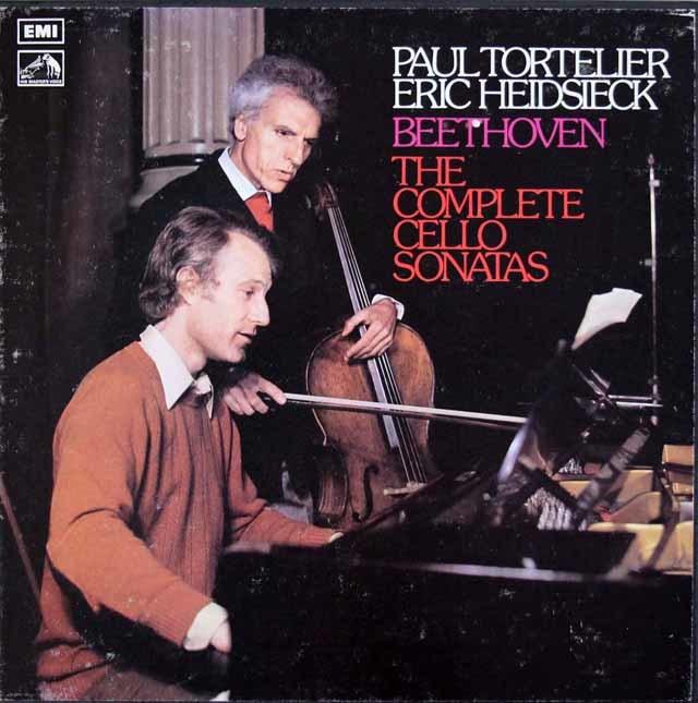 【オリジナル盤】トルトゥリエ & ハイドシェックのベートーヴェン/チェロソナタ全集 英EMI 3145 LP レコード