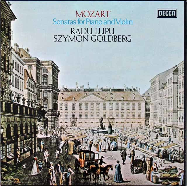 【オリジナル盤】ゴールドベルク&ルプーのモーツァルト/ヴァイオリンソナタ集 英DECCA 3145 LP レコード