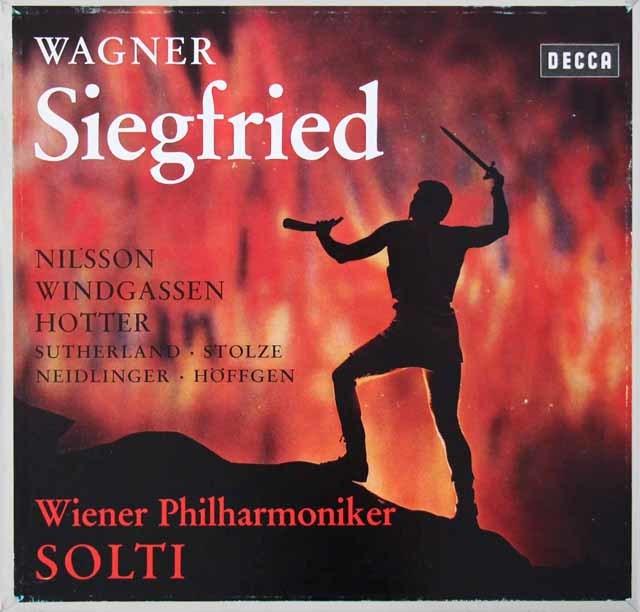 ショルティのワーグナー/「ジークフリート」全曲 独DECCA 3145 LP レコード