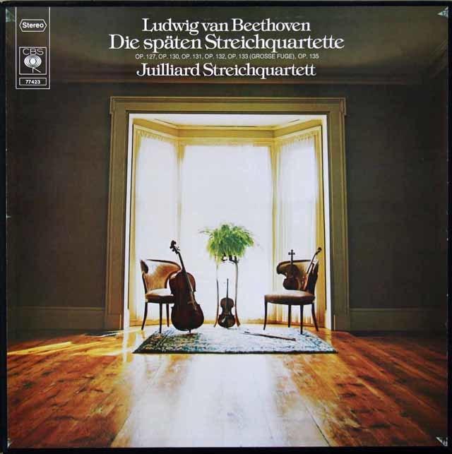 ジュリアード四重奏団のベートーヴェン/後期弦楽四重奏曲集 独CBS 3145 LP レコード