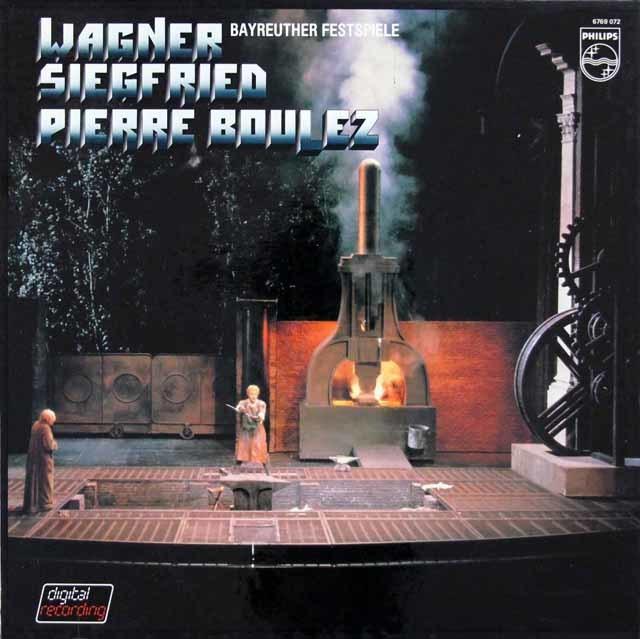 ブーレーズのワーグナー/「ジークフリート」全曲 蘭PHILIPS 3145 LP レコード