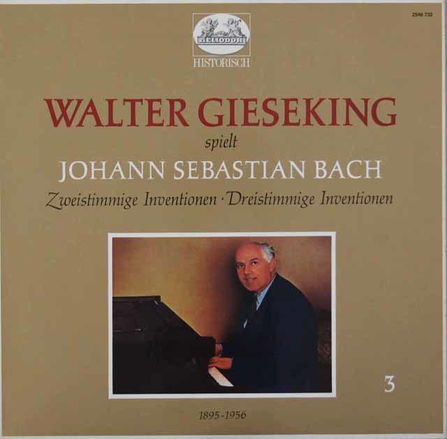 ギーゼキングのバッハ/2声のインヴェンションと3声のシンフォニア 独HELIODOR 3146 LP レコード
