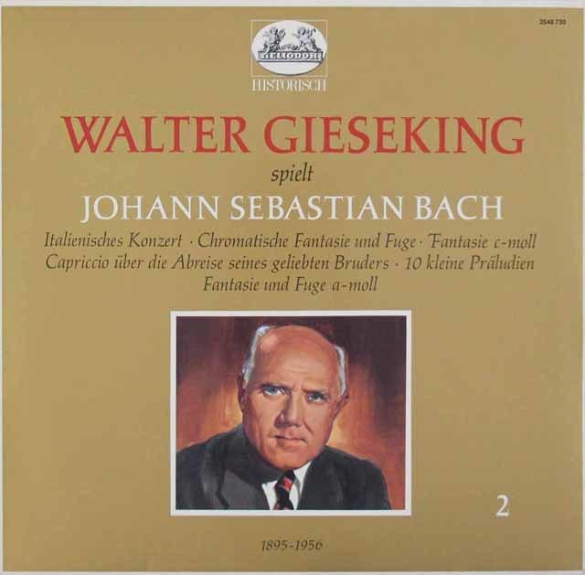 ギーゼキングのバッハ/「イタリア協奏曲」ほか 独HELIODOR 3146 LP レコード