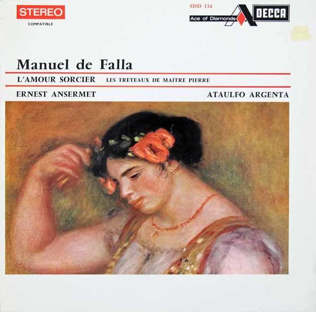 アンセルメ&アルヘンタのファリャ/「恋は魔術師」&「ペドロ親方の人形芝居」 仏Ace of Diamonds(DECCA) 3146 LP レコード