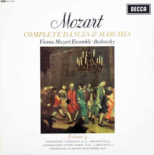 ボスコフスキーのモーツァルト/「舞曲と行進曲全集」(4) 英DECCA 3146 LP レコード