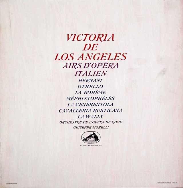 アンヘレスのイタリア・オペラ・アリア集 仏EMI(VSM) 3146 LP レコード