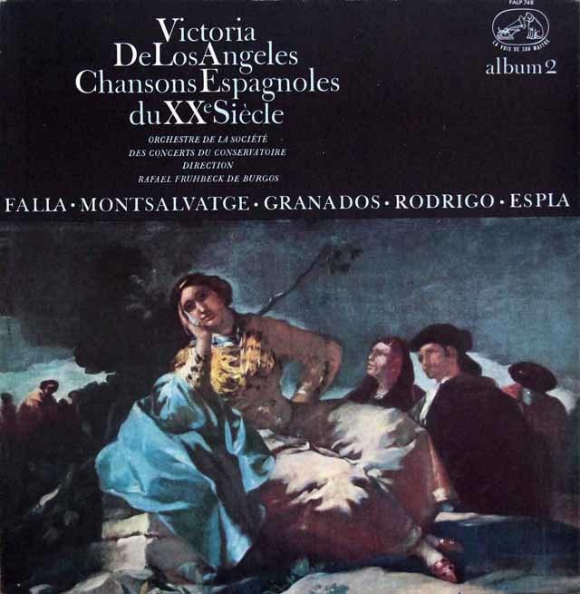 アンヘレスの20世紀スペイン歌曲集 第2集 仏EMI(VSM) 3146 LP レコード