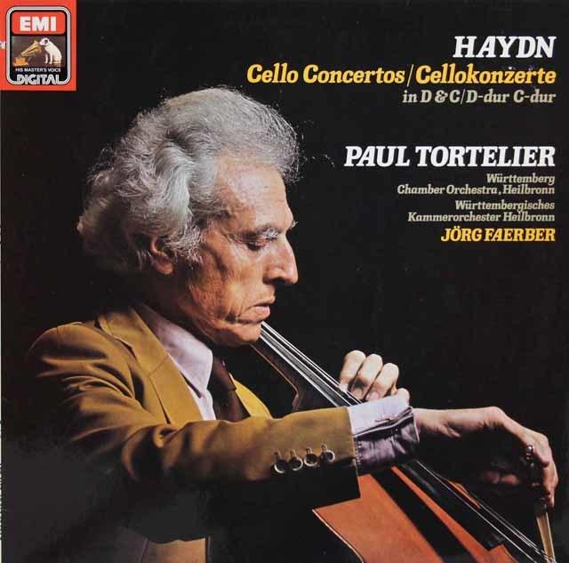 トルトゥリエのハイドン/チェロ協奏曲第1&2番 独EMI 3146 LP レコード