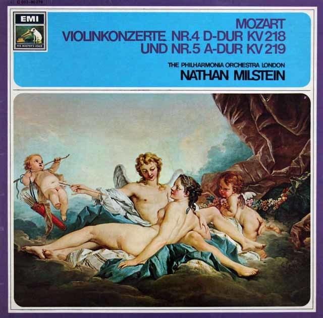 ミルシュタイン&ラインスドルフのモーツァルト/ヴァイオリン協奏曲第4、5番 独EMI 3146 LP レコード