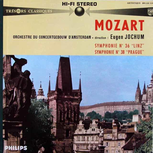 ヨッフムのモーツァルト/交響曲第36番「リンツ」&第38番「プラハ」 仏PHILIPS 3146 LP レコード