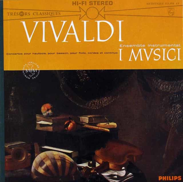 イ・ムジチ合奏団のヴィヴァルディ/管楽器のための協奏曲集 仏PHILIPS 3146 LP レコード