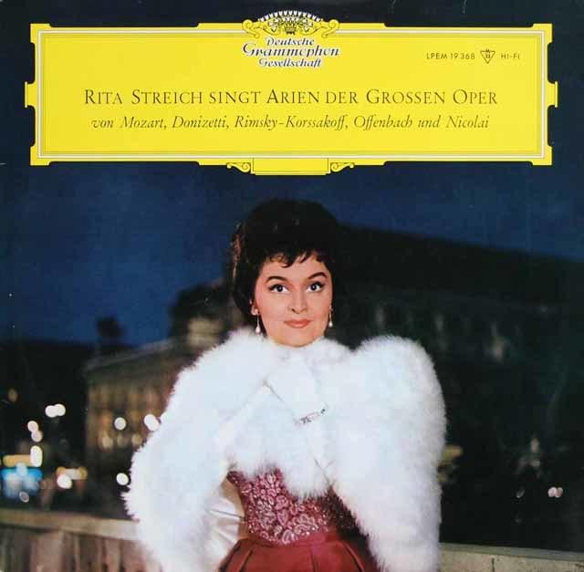 シュトライヒの「オペラアリア集」 独DGG 3146 LP レコード