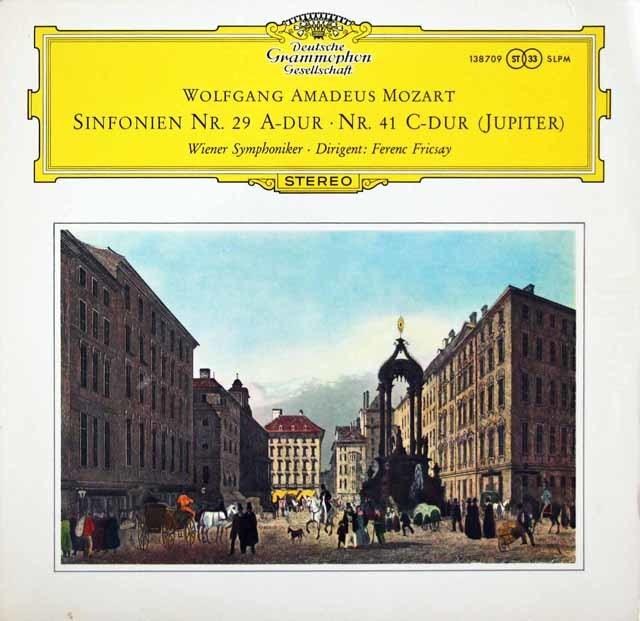 【独最初期盤】 フリッチャイのモーツァルト/交響曲第29&41番「ジュピター」  独DGG 3146 LP レコード
