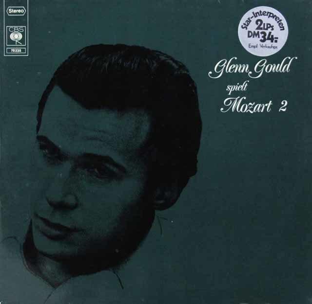 グールドのモーツァルト/ピアノソナタ第8、11、12&15番ほか 独CBS 3146 LP レコード